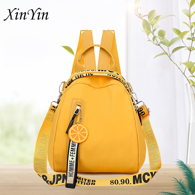 Women backpack casual letter multi function multi pocket travel backpacks female school bag for teenage girl shoulder bags small