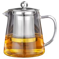 BEAU 5Sizes Good Clear Borosilicate Glass Teapot With 304 Stainless Steel Infuser Strainer Heat Coffee Tea Pot Tool Kettle Set|Tea Cozies| |  -