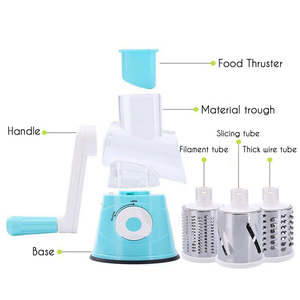 Image 5 - 3 in 1 Multifunction Vegetable Cutter Kitchen Round Mandolin Manual Potato Cheese Slicer Screwdriver Cooking Utensil Accessories
