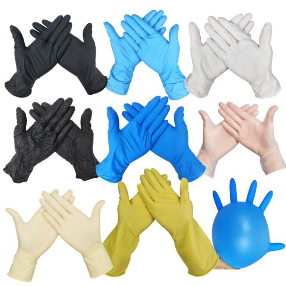 Image 2 - 100pcs Disposable Black Gloves Household Cleaning Washing Gloves 