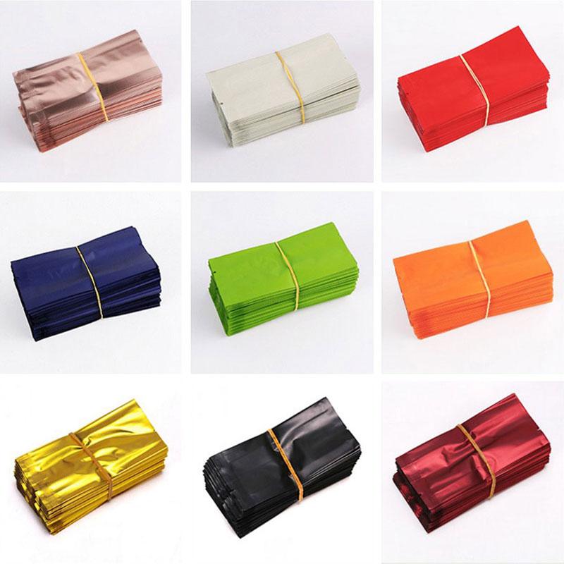 200Pcs/Lot Tea Bag Aluminum Foil Bag Vacuum Heat Seal Packaging Pouches Food Coffee Tea Mylar Foil Bag