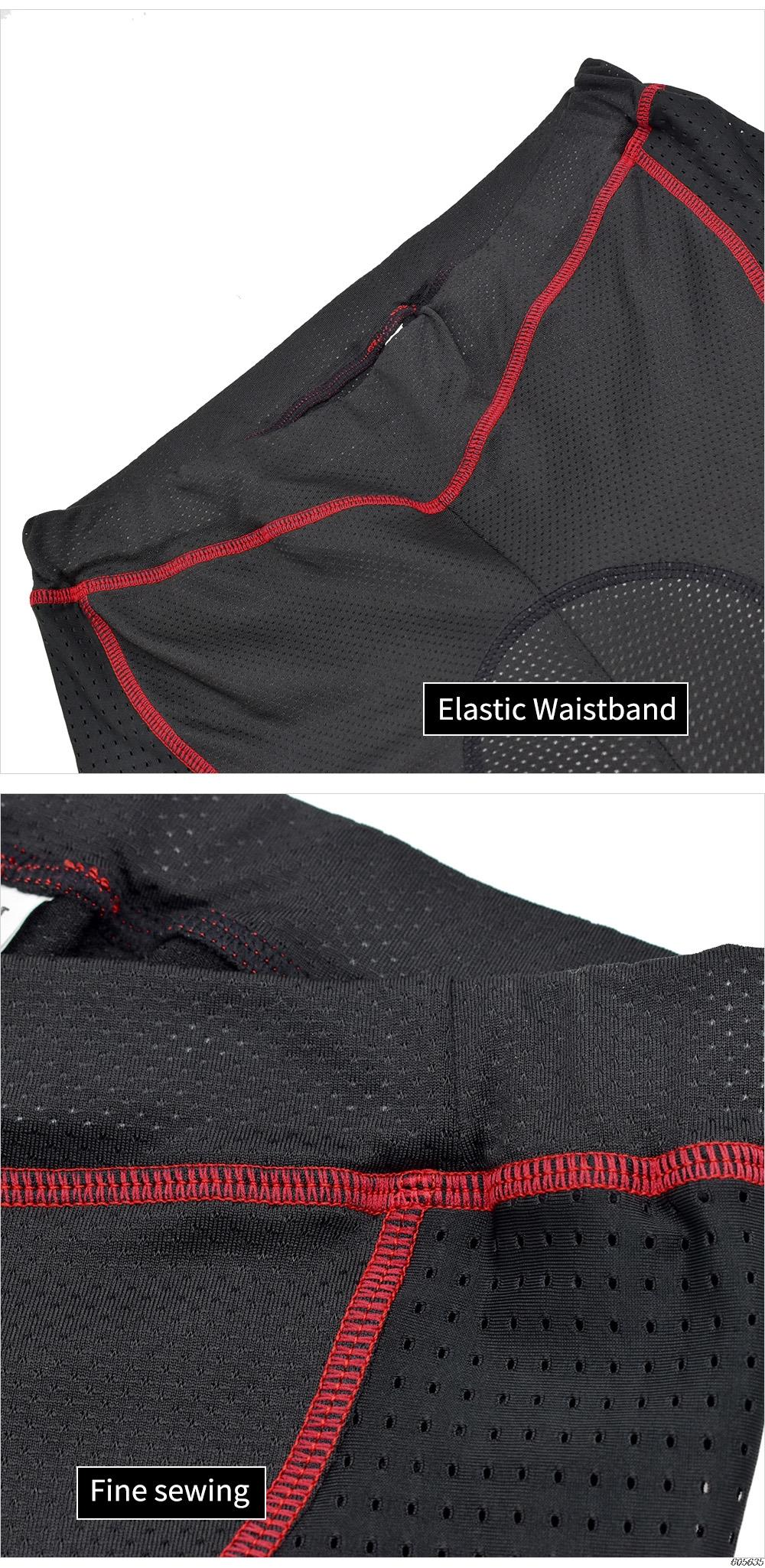 WOSAWE 2020 Upgrade Cycling Shorts Cycling Underwear Pro 5D Gel Pad Shockproof Cycling Underpant Bicycle Shorts Bike Underwear