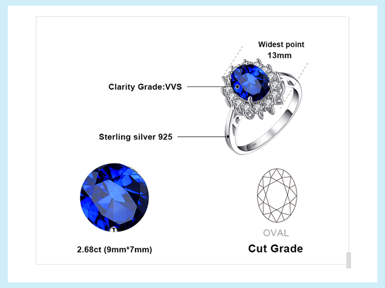Hc1a22969fd5a4f17ae8f395d796cee20i JewPalace Princess Diana Created Sapphire Ring 925 Sterling Silver Rings for Women Engagement Ring Silver 925 Gemstones Jewelry