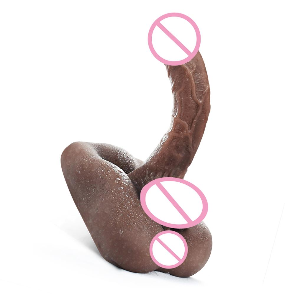 Silicone <font><b>Dildos</b></font> for Women Real <font><b>Sex</b></font> <font><b>Doll</b></font> 3D Men Penis with Anal Opening Female Masturbation Love <font><b>Doll</b></font> Sexual Toy for Man Women image