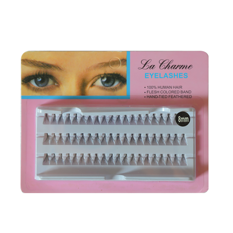 60pcs/Set 8/10/12 Mm Individual Lashe Black Natural Fake False Eyelash Long Cluster Extension Makeup Beauty Health 8/10/12mm