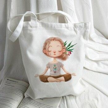 Белая парусиновая экосумка (MENISCOUNTER/35х38х21 см/4 рисунка) для шоппинга