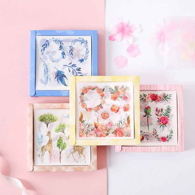 20 Pcs/lot Refresh Succulent Plant Animal Washi Paper Sticker Decoration Stickers DIY Diary Scrapbooking Label Sticker