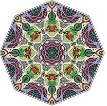 • Tappetino da gioco per Yoga stampato in microfibra a cerchio tondo grande