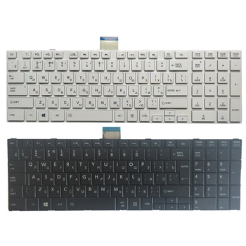 NEW Russian laptop Keyboard for TOSHIBA SATELLITE L850 L850D P850 L855 L855D L870 L870D RU Black/white keyboard цена 2017