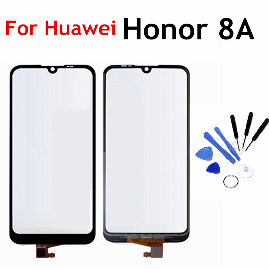 6.09'' For Huawei Honor 8A Touch Screen Glass Sensor Touchpad Front Glass Panel Replacement For Honor 8 A 8A  Touchscreen