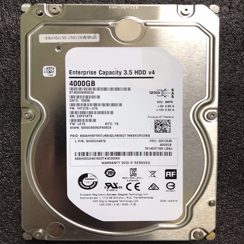 """New HDD For Seagate Brand 4TB 3.5"""" SAS 12 Gb/s 128MB 7200RPM For Internal HDD For Enterprise Class HDD For ST4000NM0034 2"""