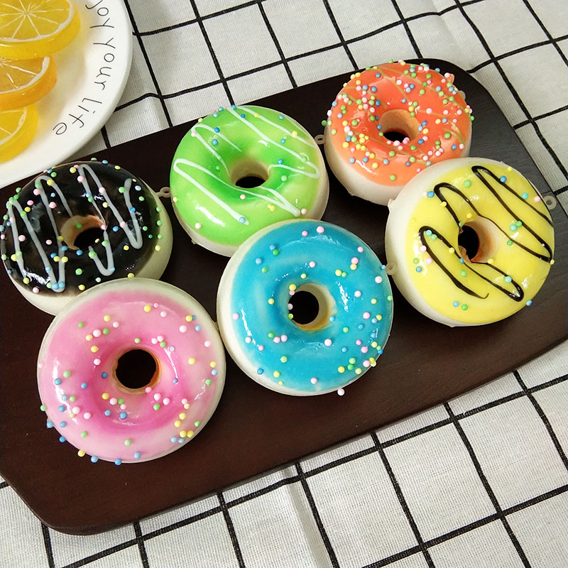 1pcs Artificial Donut Cake Simulation Food Round Donut Cake For Home Accessories Window Display Pastry Model Photography Props