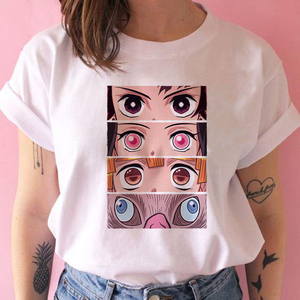 kimetsu no yaiba demon slayer t shirt women graphic top tees Japanese anime tshirt harajuku kawaii streetwear punk t-shirt(China)