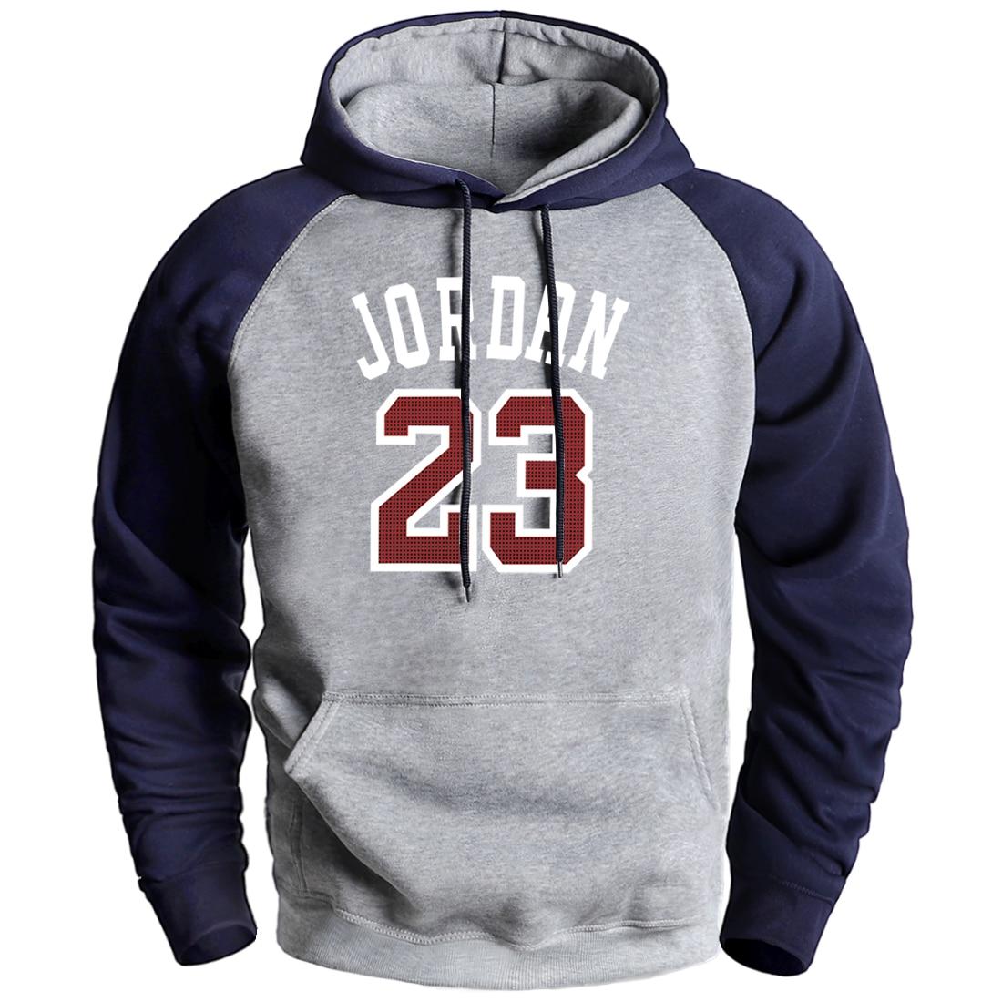 Jordan 23 Mens Hoodie Winter Raglan Fleece Warm Sweatshirt 2020 Man Brand Hot Sell Pullover Hooded Homme Casual Loose Streetwear