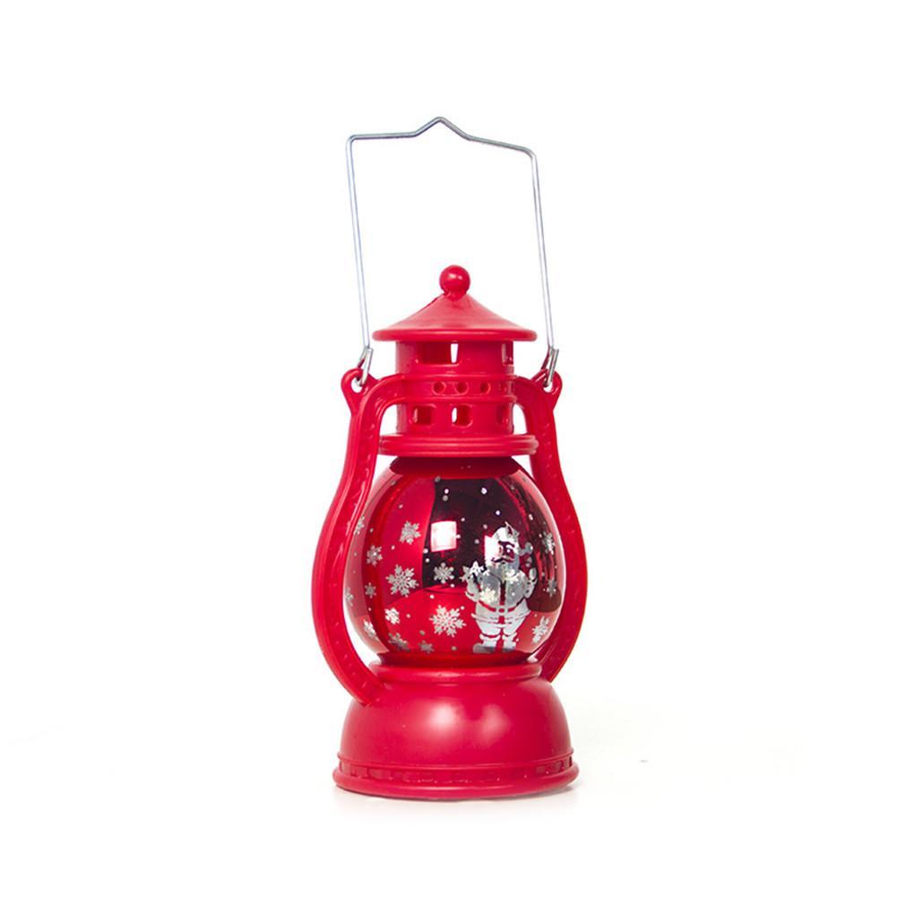 Светодиодный фонарь, Рождественский светильник, подсвечивающий свет для дома, винтажный Ретро праздничный фестиваль, Рождественское украшение, крытая наружная лампа - Испускаемый цвет: Red