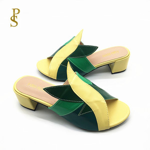 Image 4 - Mixed color PU shoes for women Fashionable and colorful female slippers for ladies