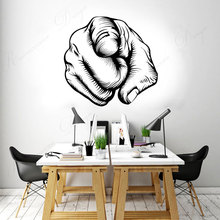 Pointing Fingers You Must Show Cool Wall Sticker Vinyl Office Decals Art Home Decor Accessories Interior Murals Wallpaper 4332 travel agency office wall sticker vinyl interior home decor decals say hello to summer voyage murals removable wallpaper 3605