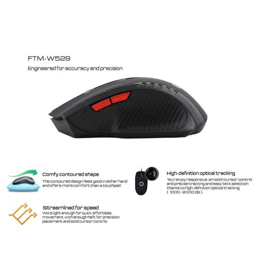 Untuk PC Laptop Gaming 1600DPI 2.4G Wireless Optical Mouse Permainan Pemain Permainan Baru dengan USB Receiver Wireless Mouse landing Transportasi
