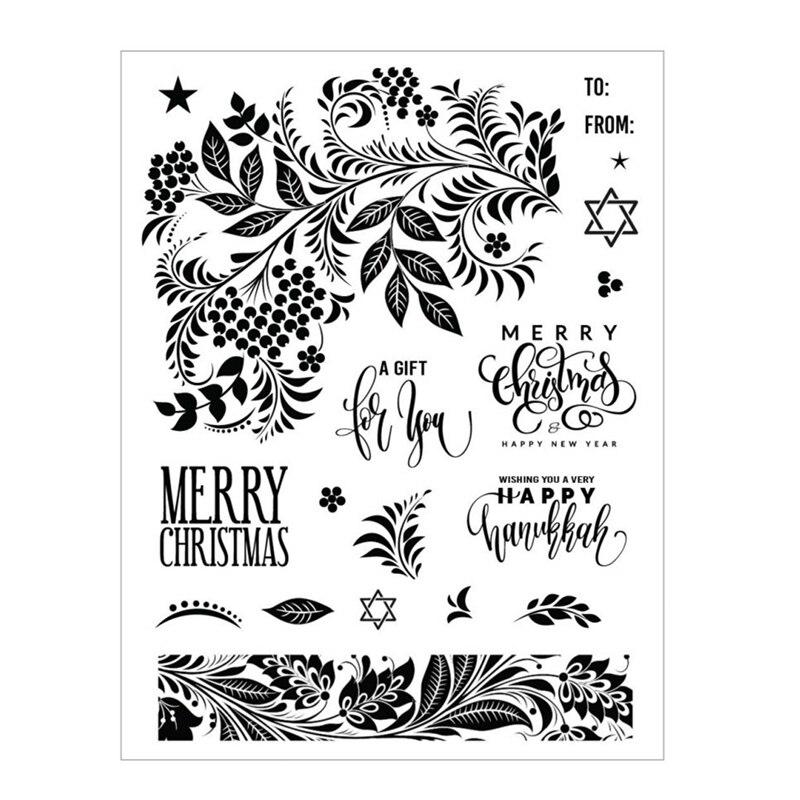 2020 Новый Рождественский набор вырубных штампов и печатей Скрапбукинг для Бумага делая праздничный гобелен тиснение кадров карты Ремесло Н...