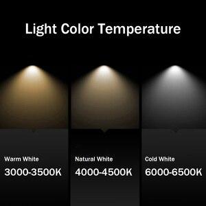 Image 4 - Preto/branco longo tubo teto recesso led ponto lâmpada ângulo rotativo luz de teto 12w para cozinha quarto imagem tv fundo