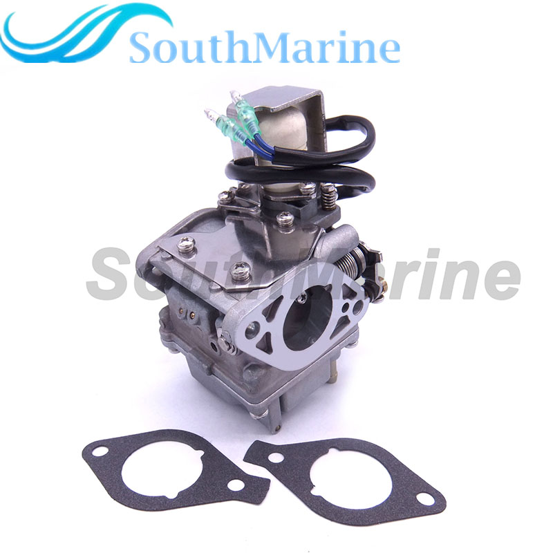 Boat Engine 6AH-14301-00 6AH-14301-01 Carburetor Assy and 6AH-13646-00 Gaskets (2 pcs) for Yamaha 4-stroke F20 Outboard Motor