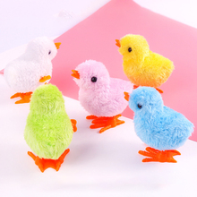 Toy Wind-Up Chicken-Toys Jumping Walking 1pcs Doll Plush Random-Color Baby Early-Education
