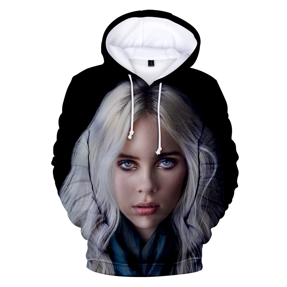 Hot Billie Eilish Fashion Popular Billie Eilish New 3D Hoodies Children Men Women 3D Kid Boy Girl 3D Hooded Pullover Sweatshirts