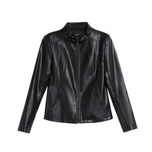 New Woman Short Self-cultivation Loose Coat 2020 Locomotive Leather Jacket Leisure Time Small Freeshipping(China)