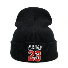 Knitted Hats Bonnet Beanie-Caps Jordan 23 Women Embroidery-Hat Warm Fashion Casual Outdoor
