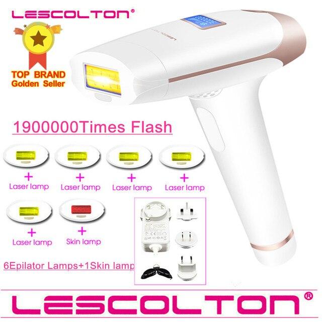 Lescolton 7in1 6in1 5in1 4in1 IPL אפילציה קבוע לייזר שיער הסרת 1900000 פולסים depilador לייזר ביקיני Photoepilator