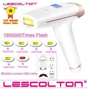 Image 1 - آلة إزالة الشعر بالليزر الدائمة من Lescolton 7in1 6in1 5in1 4in1 IPL آلة إزالة الشعر بالليزر 1900000 نبضات آلة إزالة الشعر بالليزر من depilador a