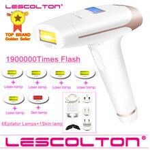 Lescolton depilador permanente 5 em 1 a laser, depilação permanente 4 em 1, com 1900000 pulsos, photoepilator, depilação para biquini