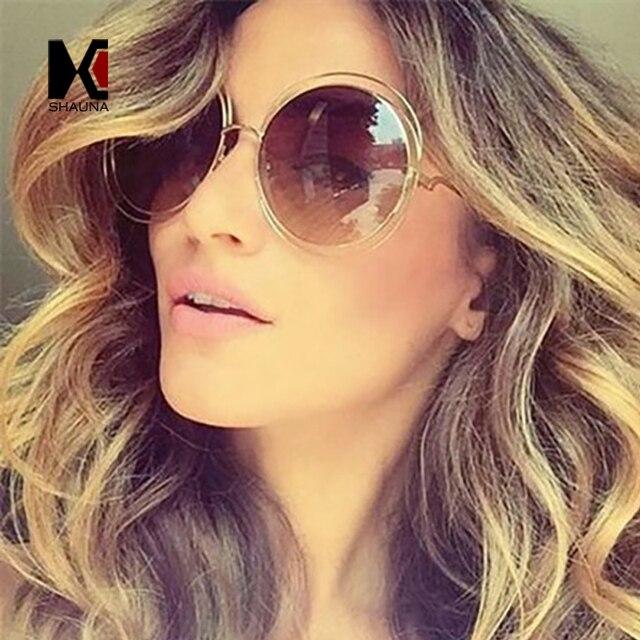 Vintage Oversize Round Sunglasses Women Alloy Around Hollow Frame Brand Designer Fashion Circling Frog Sun Glasses UV400 3