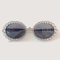 Small Oval Sunglasses Women Vintage Brand Designer Diamond Sun Glasses Classic