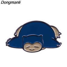 P5089 Dongmanli Snorlax Cute Hard Enamel Pins Brooch Women Lapel Backpack Bags Badge Fashion Jewelry Gifts banana brooch creative tricky funny cute badge backpack fruits pins jewelry pin women men student cartoon enamel corsage gifts