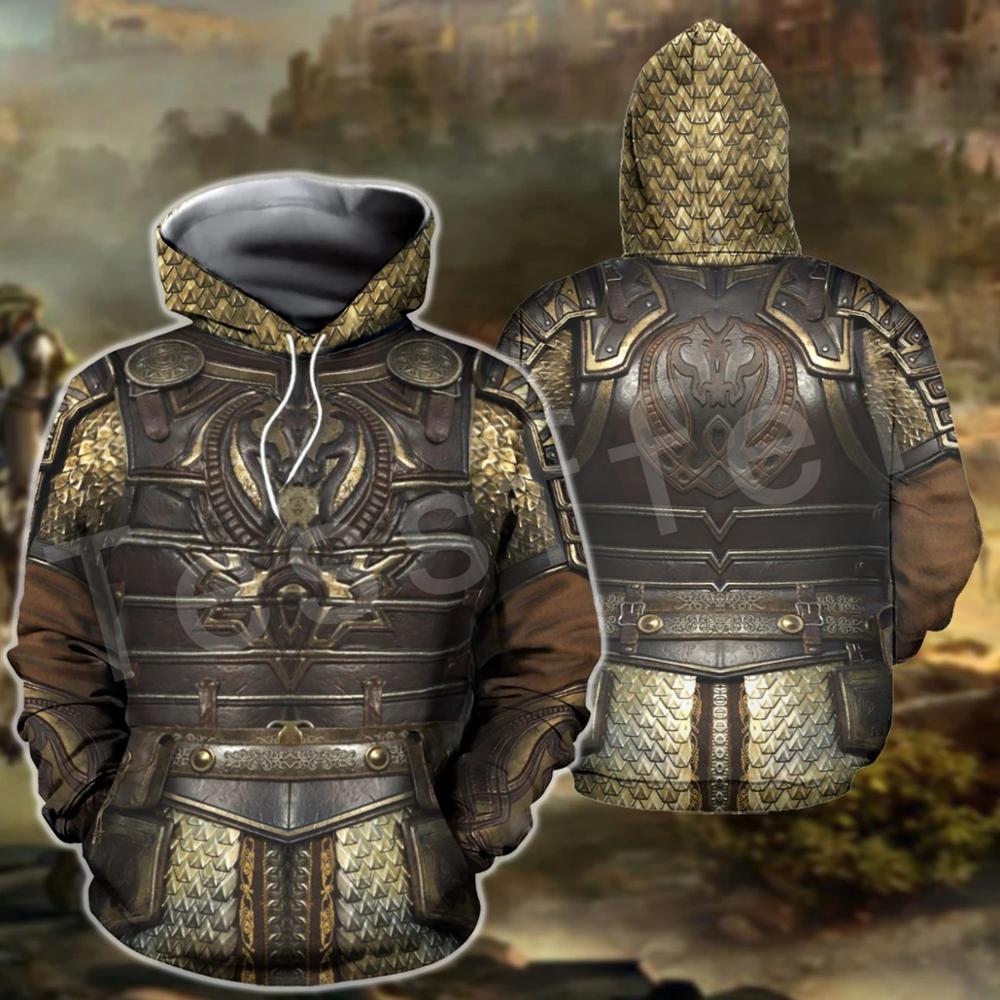 Tessffel Knights Templar Armor Pullover NewFashion Harajuku Tracksuit 3DfullPrint Zipper/Hoodies/Sweatshirt/Jacket/Men/Women S-2