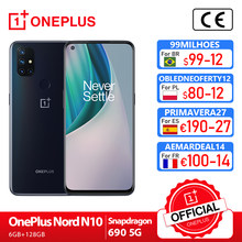 OnePlus Nord N10 Welt Premiere OnePlus Official Store Globale Version 5G 6GB 128GB Snapdragon 690 Smartphone 90Hz Display 64MP quad Cams Warp 30T NFC