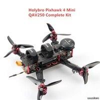 Holybro Pixhawk 4 Mini QAV250 Kit Completo RC Quadcopter RC Drone W/ 5.8G FPV VTX 600TVL 433MHz 915mhz Telemetria Radio