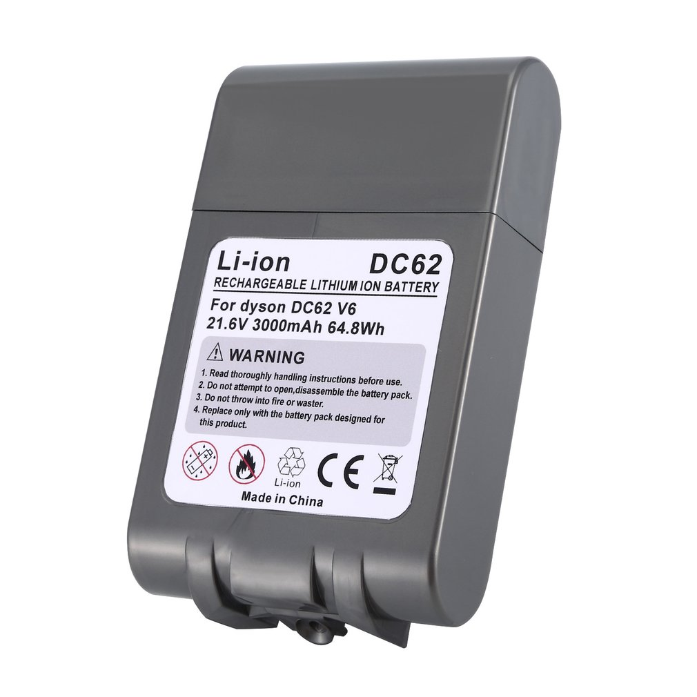 DC62 V6 21.6V 3000mAH Rechargeable Li-ion Battery For Dyson V6 DC58 DC59 DC61 DC62 DC74 SV09 SV07 SV03 Vacuum Cleaner Battery