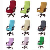 Plus Größe Sitz Abdeckung für Computer Stuhl Sessel Abdeckung Stretch Büro Stuhl Abdeckung Büro Rotierenden Stuhl Abdeckung Housse de Chaise