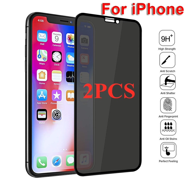 1-2 шт HD полное покрытие Скрытая защитная пленка на экран для IPhone 12 X XS MAX XR Antispy плёнка из закалённого стекла для IPhone11 8 пленка для защиты от сол...