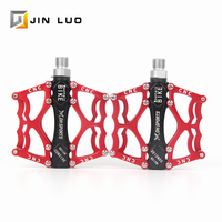 MTB BMX Pedals Sealed Bearing Bicycle Pedal Aluminum Alloy Cleats Pegs Flat Folding Road Mountain Bikes Clip Cycling Accessories