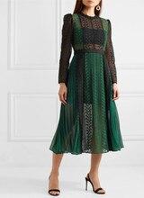 Новинка кружевное платье зеленое