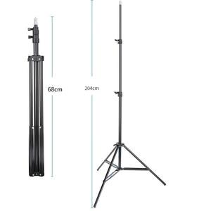 Image 2 - 45cm 75cm 110cm 170cm 190cm 200cm Light Stand for photo Studio Flashing softbox ring light Godox lighting Metal Tripod