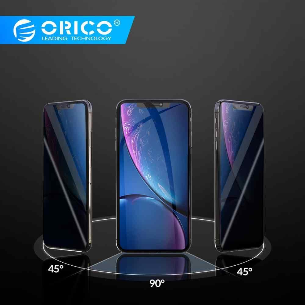 オリコ抗 spy アンチのぞきプライバシースクリーンプロテクター iphone xr x xs 強化ガラス、プライバシー保護