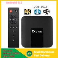 Tanix TX3 mini Smart TV BOX Android 8.1 Amlogic S905W 2GB 16GB 2.4G WiFi 1080p 4K Media Player Google TX3mini tvbox Set top Box