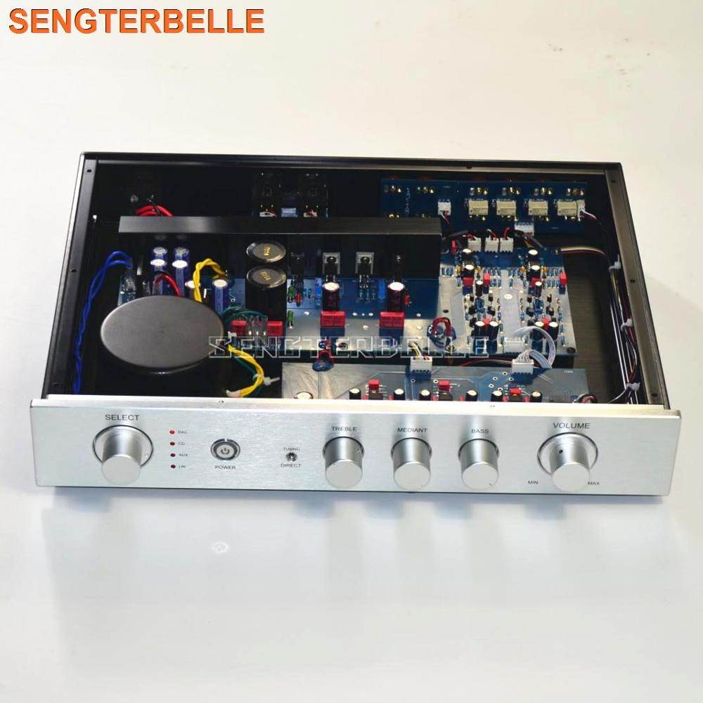 New Finished High-end E300 Preamplifier High School Low Volume Adjustment Pre-amp With Balanced Output