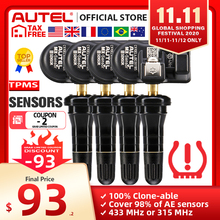Autel MX Sensors 433 MHz 315 MHz Sensor Programmer TPMS PAD TS401 TS601 Double Frequencies 2 in 1 Autel Sensors Tyre Analysis