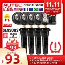 Autel mx センサー433 mhz 315 433 mhzのセンサープログラマtpmsパッドTS401 TS601ダブル周波数2 1でのautelセンサータイヤ分析