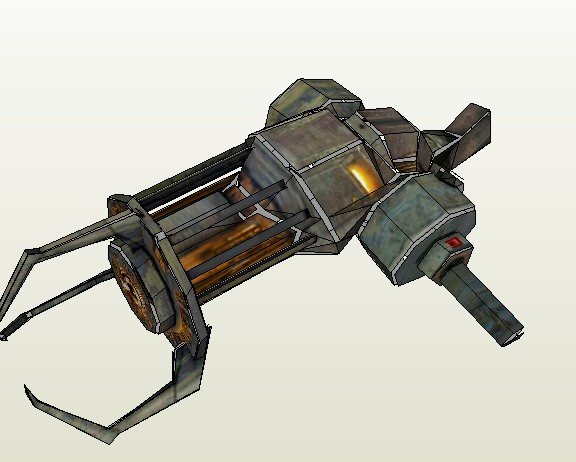Paper Model HD Drawings Half-Life 2 Science Fiction Pistol